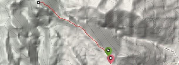 Karte Besteigung Rucu Pichincha