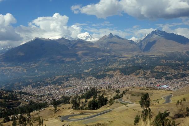 Peru - First View of Cordillera Blanca from Bus to Huaraz