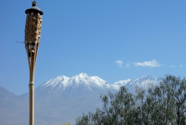 Peru - View from roof terrace of hostel, Arequipa