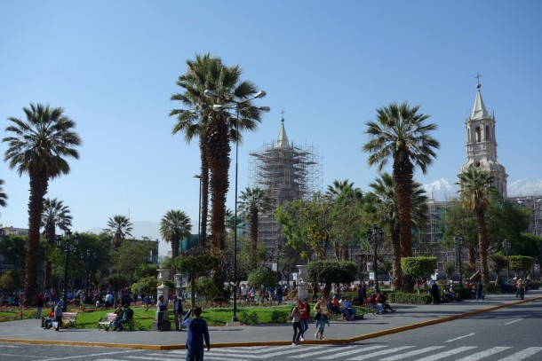 Peru - Plaza de Armas and Cathedral, Arequipa