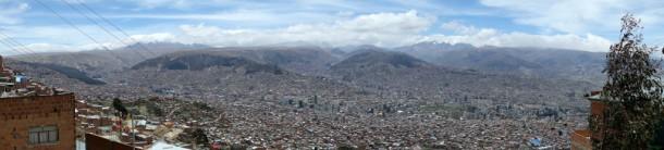 Bolivia - La Paz - Panoramic view from El Alto