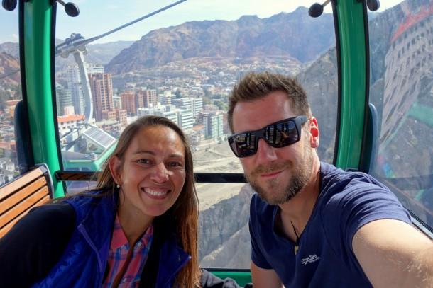 Bolivia - La Paz - Riding the Teleferiqo, Green Line (South)