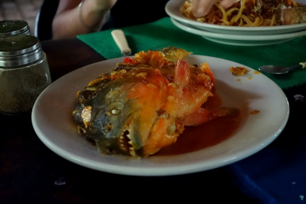 Bolivia - Serere Reserve - Piranha for dinner