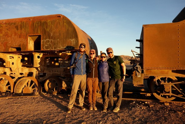 Bolivia - Uyuni - mit Nina und Jörg, cementerio de trenes