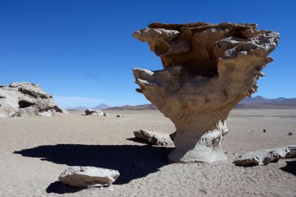 Bolivia - Uyuni - Salar de Uyuni Tour, El Árbol de Piedra (4575m)