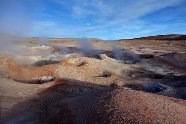 Bolivia - Uyuni - Salar de Uyuni Tour, Sol de Mañana Geysir (4850m)