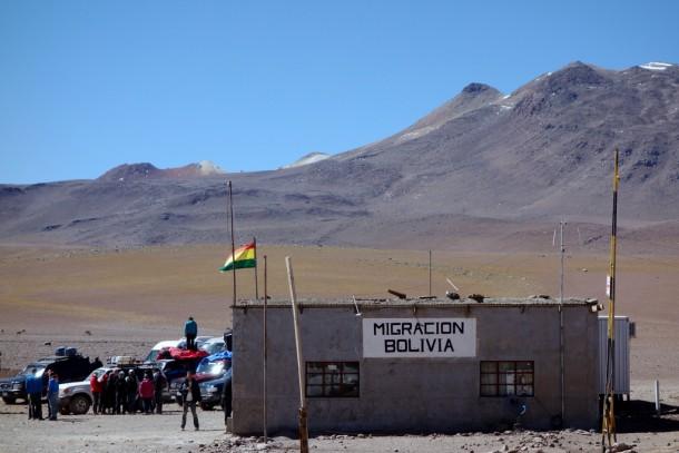 Bolivia - Uyuni - Salar de Uyuni Tour, Grenze nach Chile