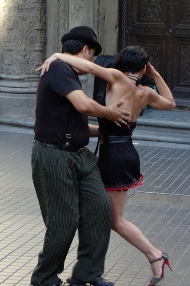 Argentina - Buenos Aires, Tango on the street
