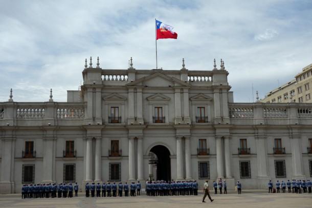 Chile - Santiago, At La Moneda (Präsidentenpalast), Plaza de la Constitución
