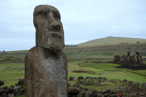 Chile - Easter Island, Moais at Ahu Tongariki