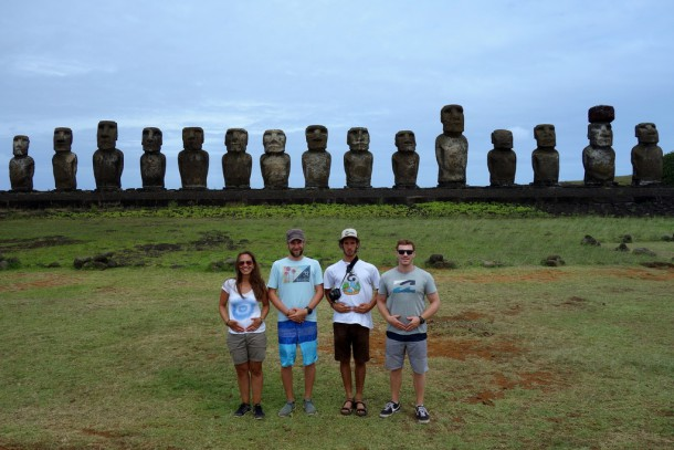 Chile - Easter Island, 15+4 Moais of Ahu Tongariki