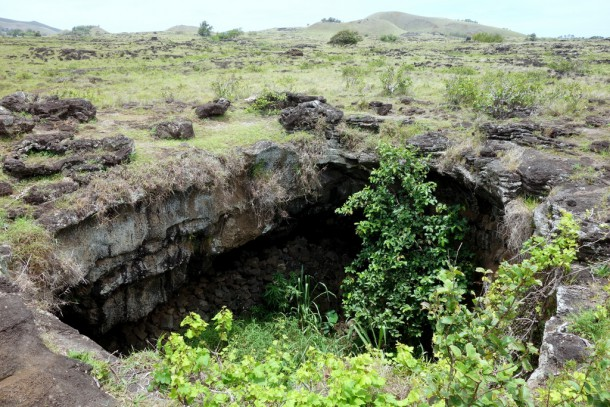 Chile - Easter Island, Ana te Pahu (Banana) Cave