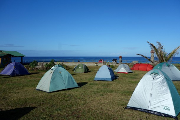 Chile - Easter Island, our campground
