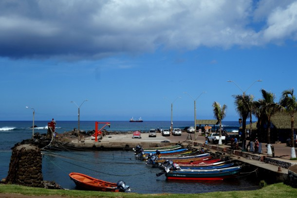 Chile - Easter Island, Hanga Roa harbour